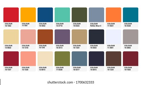 Pantone Earthtones Colour Catalog Guide Book Cards Samples Inspiration Illustration Template in RGB Vector for Everyday Use
