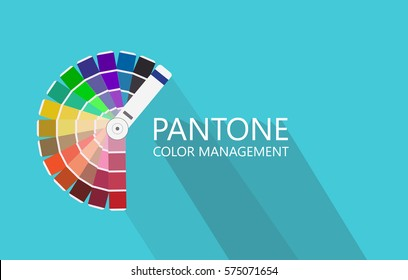 Pantone swatch color collection, concept icons in flat style
