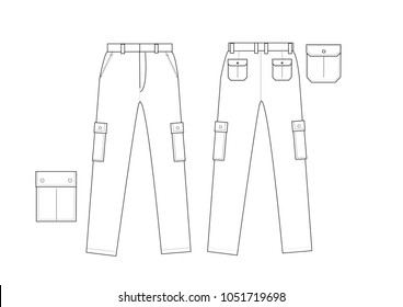 Pants Design Vector