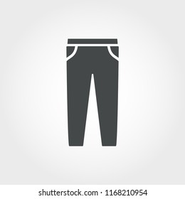 Pants icon. Pixel perfect element. Premium Pants icon design from clothes collection. For web, mobile, software, print.
