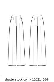 pants technikal sketch