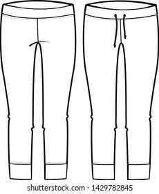 pants vector isolated template illustration