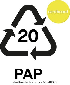PAP cardboard recycling code