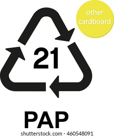 PAP other cardboard recycling code