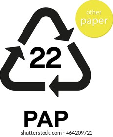 PAP other paper recycling code