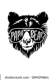 papa bear with black color