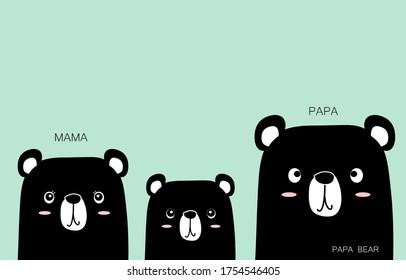 Papa Bear. PAPA,MAMA. Papa Bear's cartoon Motivational messages. FAMILY. BEAR. HAPPY. GOOD.