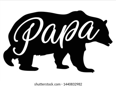 Papa Bear Images Stock Photos Vectors Shutterstock