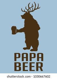 papa BEER BEAR