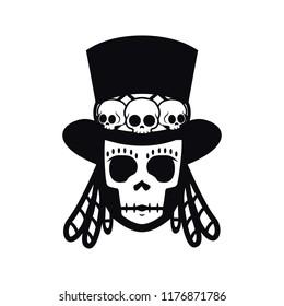 Papa Legba,voodoo man,Halloween illustration
