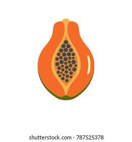 Papaya icon. Flat illustration of papaya vector icon isolated on white background