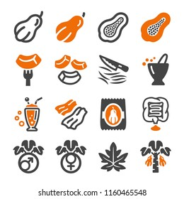 papaya icon set