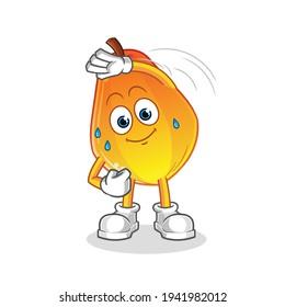 papaya stretching character. cartoon mascot vector
