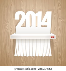 Paper 2014 is Cut into Shredder.