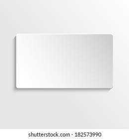 Paper 3d card, vector illustration.