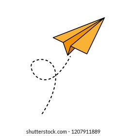 paper airplane flying icon