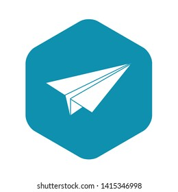 Paper airplane icon. Simple illustration of paper airplane vector icon for web