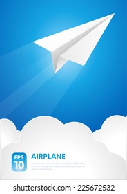 paper airplane vector background