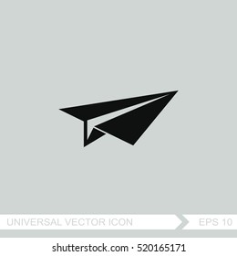 Paper airplane vector icon.