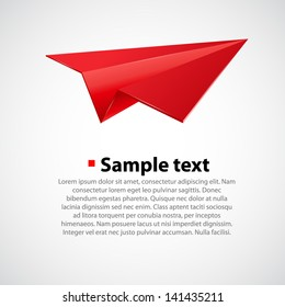 Paper airplane vector illsutration