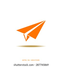 paper airplane, Web icon