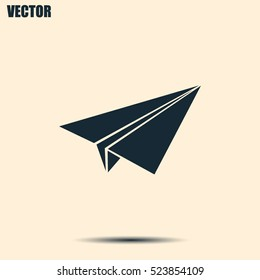 paper airplane, Web icon. vector design
