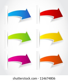 Paper arrows. Vector illustration