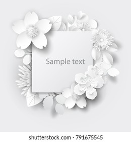 Paper flower images stock photos vectors shutterstock paper art flowers background paper cut vector stock mightylinksfo