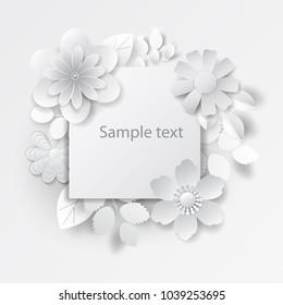 Paper flower images stock photos vectors shutterstock paper art flowers background vector stock mightylinksfo