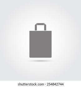 Paper bag icon - Vector