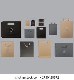 paper bag mockup packaging all size