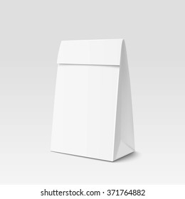 Paper Bag Package for advertising and branding. Paper bag triangular shape. A-form Paper Bag