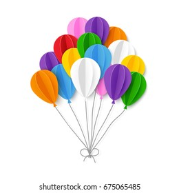 Paper balloons. Vector illustration