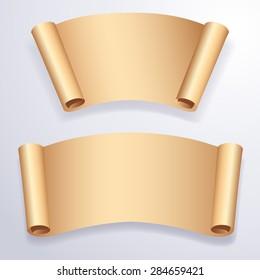 Paper Banner Set : Vector Illustration