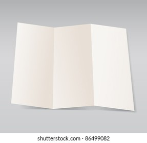 Paper blank brochure template. Ready for a text