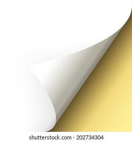 Paper - bottom corner - gold