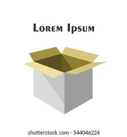 Paper Box. Vector Illustration