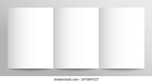 Paper brochure mock up for design demonstration. Blank white booklet