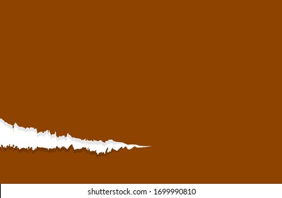 paper brown with tear marks for banner copy space, paper rip torn brown for background, paper with edge tear, sheet paper card rip for advertising message text, brown notepaper memo torn texture