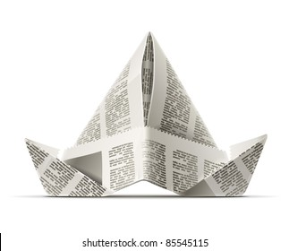 how to make a paper hat origami - Google Search | Paper hat diy ... | 280x323