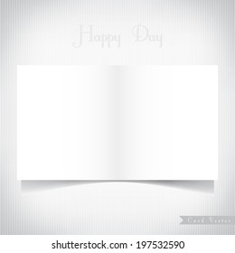 Paper card background, vector eps10