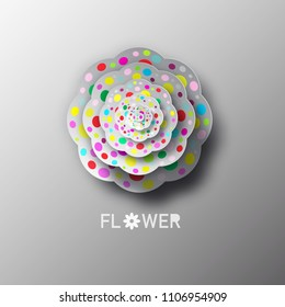 Paper Cat Flower Vector Illustration