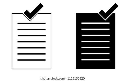 Paper Check Illustration