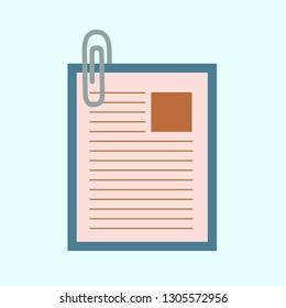 paper clip attachment icon - paper clip, email attachment, attached file - Vector