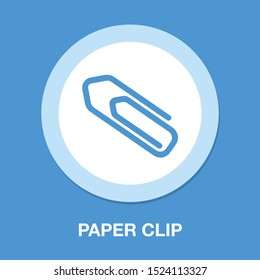 Paper clip icon - attach paper tool, office paperclip symbol