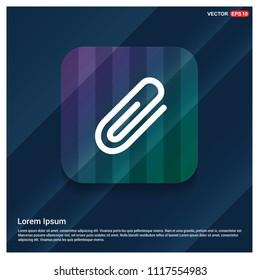 paper clip icon - Free vector icon