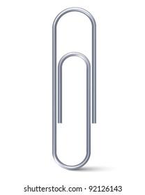 Paper clip. Vector