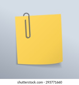Paper clips and paper notes