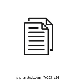 paper copy icon vector
