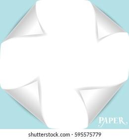 Paper Corner Folds. Vector illustration.